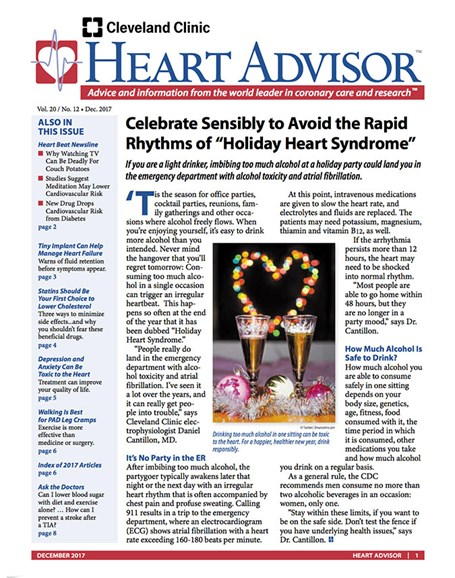 Heart Advisor Cover - 12/1/2017