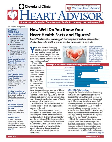 Heart Advisor Cover - 4/1/2017