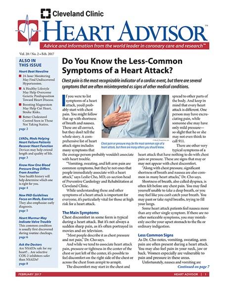 Heart Advisor Cover - 2/1/2017