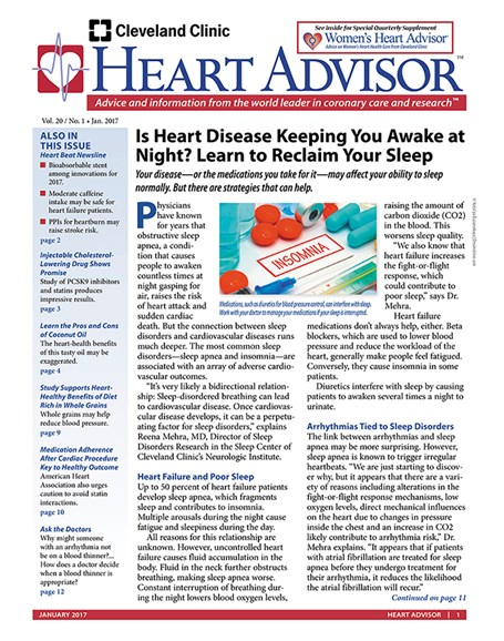 Heart Advisor Cover - 1/1/2017