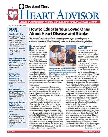 Heart Advisor Cover - 5/1/2017