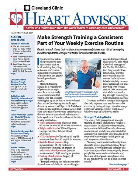 Heart Advisor Cover - 9/1/2017