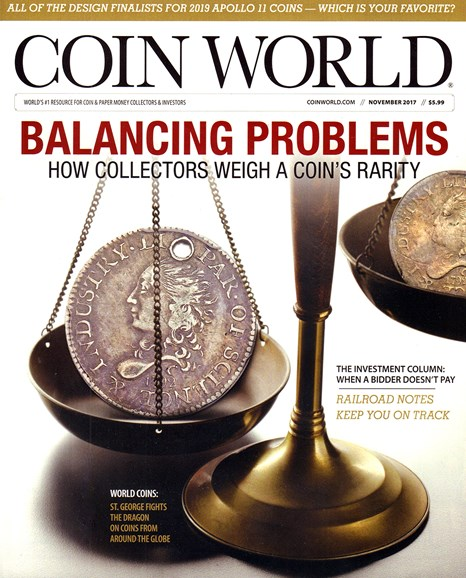 Coin World Weekly Cover - 11/1/2017