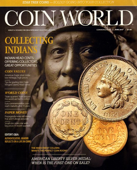 Coin World Weekly Cover - 6/1/2017