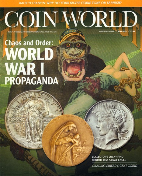 Coin World Weekly Cover - 5/1/2018