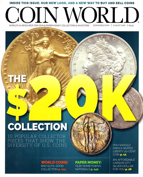 Coin World Monthly Cover - 8/1/2018