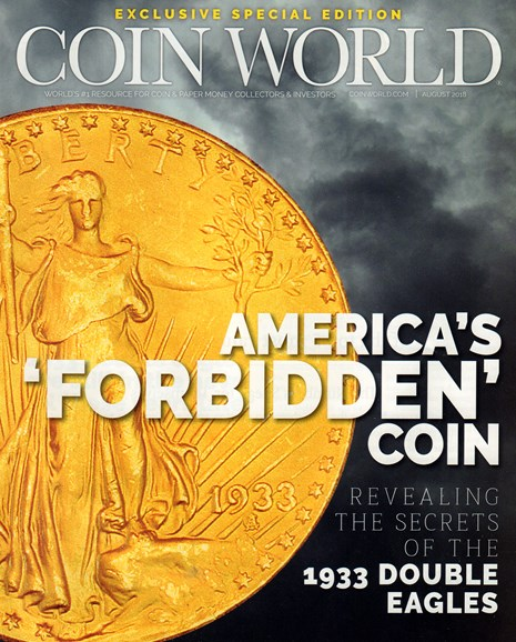 Coin World Weekly Cover - 8/1/2018