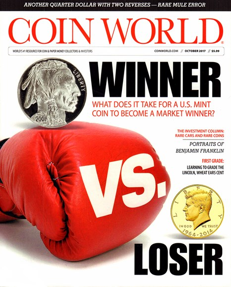 Coin World Weekly Cover - 10/1/2017