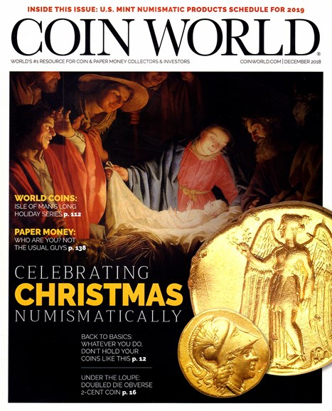 Coin World Weekly Cover - 12/1/2018