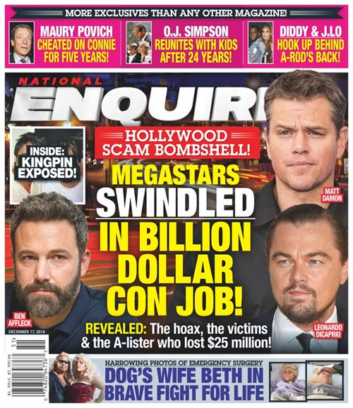 National Enquirer Cover - 12/17/2018
