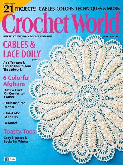 Crochet World Cover - 2/1/2019