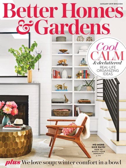 Better Homes & Gardens Cover - 1/1/2019