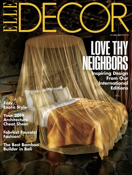 ELLE DECOR Cover - 1/1/2019