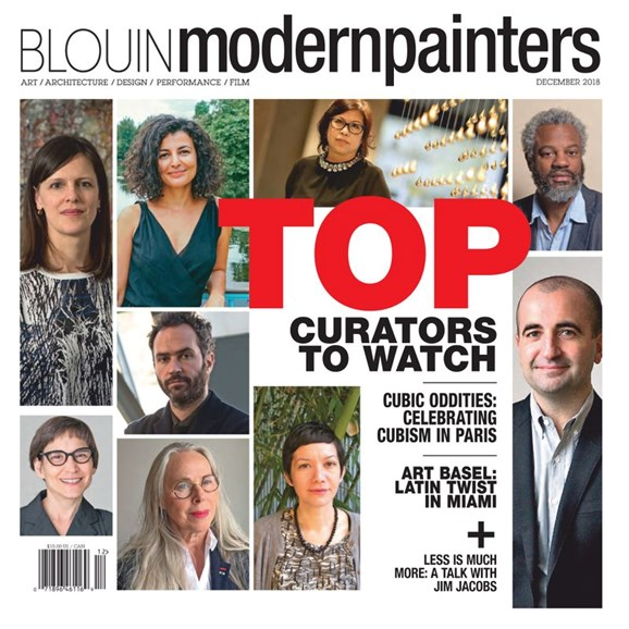 Blouin Modern Painters Cover - 12/1/2018