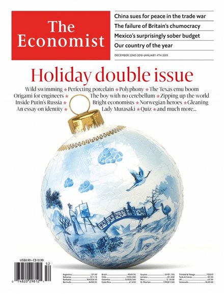The Economist Cover - 12/22/2018