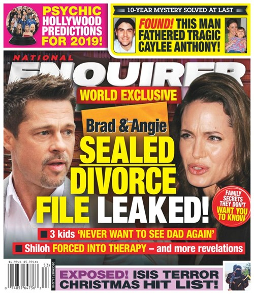 National Enquirer Cover - 12/31/2018