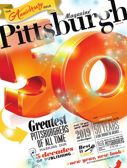 Pittsburgh Magazine Cover - 1/1/2019