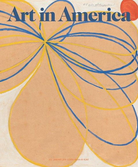 Art In America Cover - 1/1/2019
