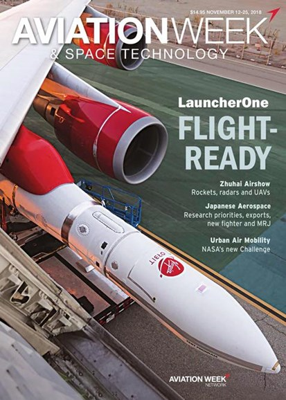 Aviation Week & Space Technology Cover - 11/12/2018