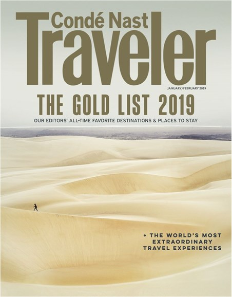 Condé Nast Traveler Cover - 1/1/2019