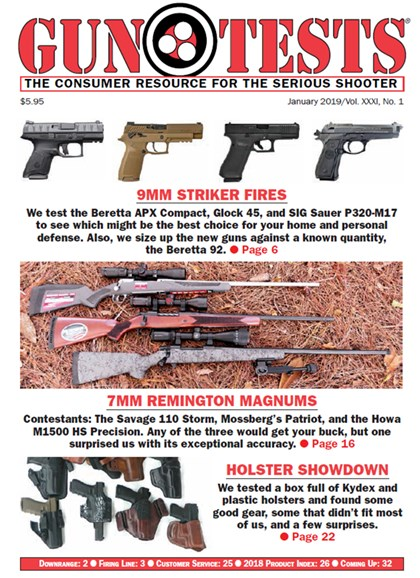 Gun Tests Cover - 1/1/2019