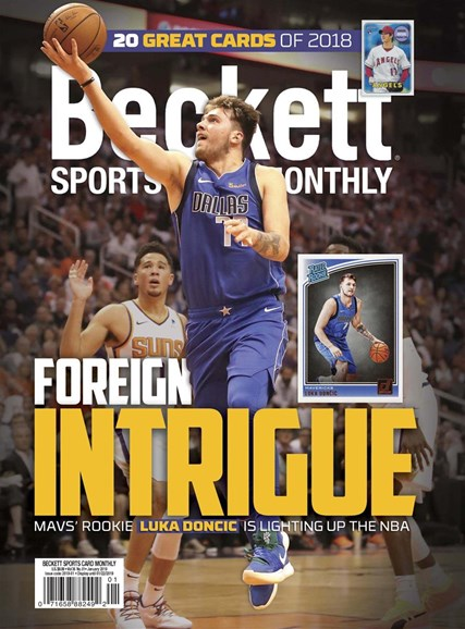 Beckett Sports Card Monthly Cover - 1/1/2019
