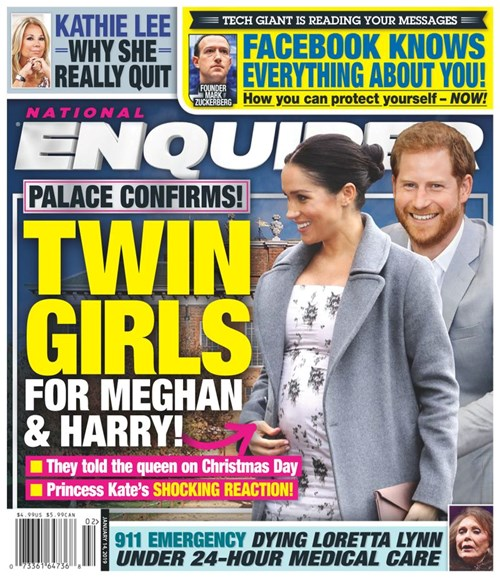 National Enquirer Cover - 1/14/2019