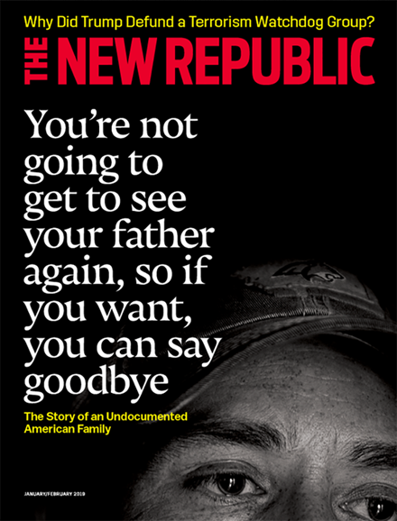 The New Republic Cover - 1/1/2019
