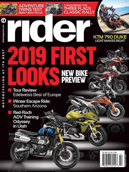Rider Cover - 2/1/2019