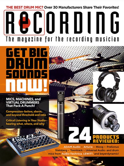 Recording Magazine Cover - 1/1/2019