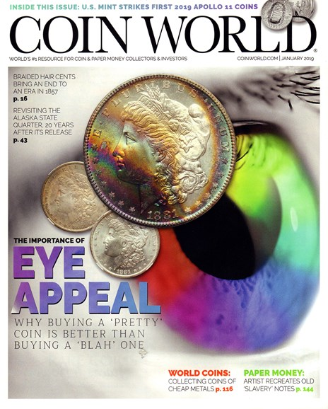 Coin World Monthly Cover - 1/1/2019