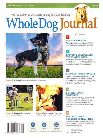 Whole Dog Journal Cover - 1/1/2019
