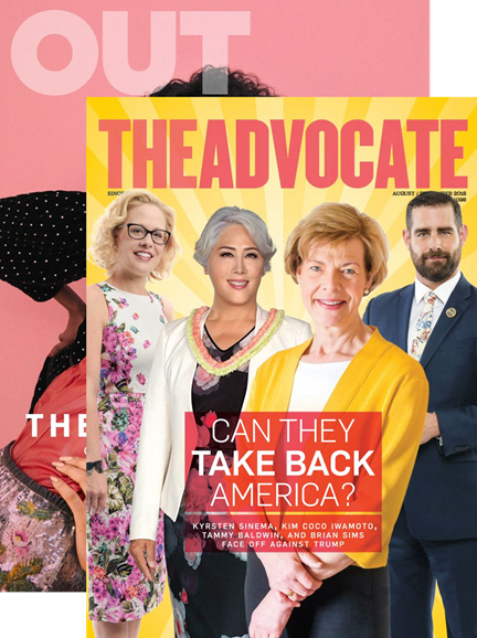 Out & The Advocate Edition Cover - 8/1/2018