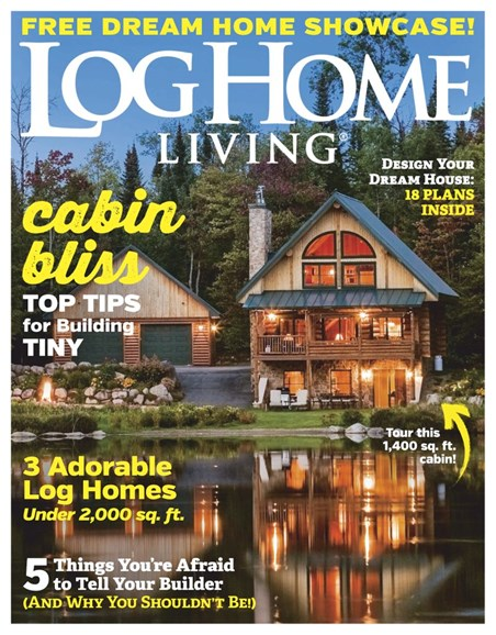 Log Home Living Cover - 1/1/2019