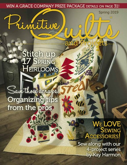 Primitive Quilts & Projects Cover - 3/1/2019
