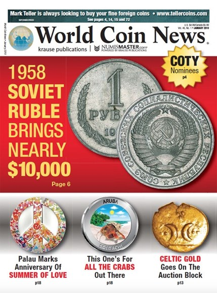 World Coin News Cover - 1/1/2019