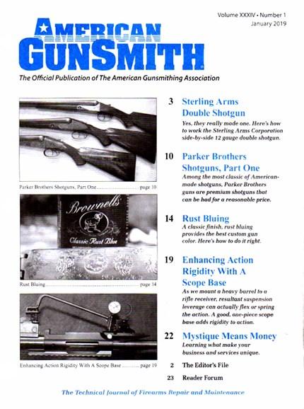 American Gunsmith Cover - 1/1/2019