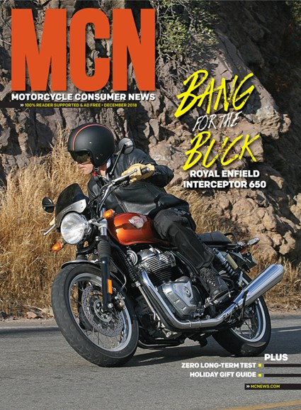 Motorcycle Consumer News Cover - 12/1/2018