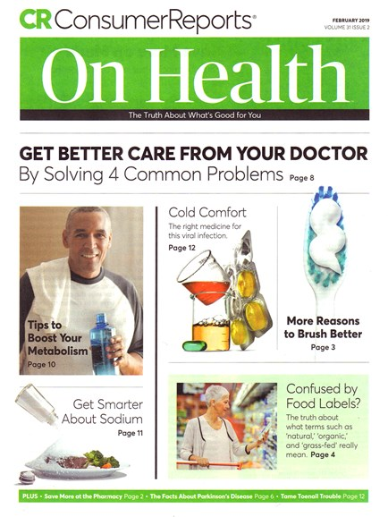 Consumer Reports On Health Cover - 2/1/2019