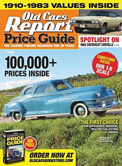 Old Cars Report Price Guide Cover - 1/1/2019