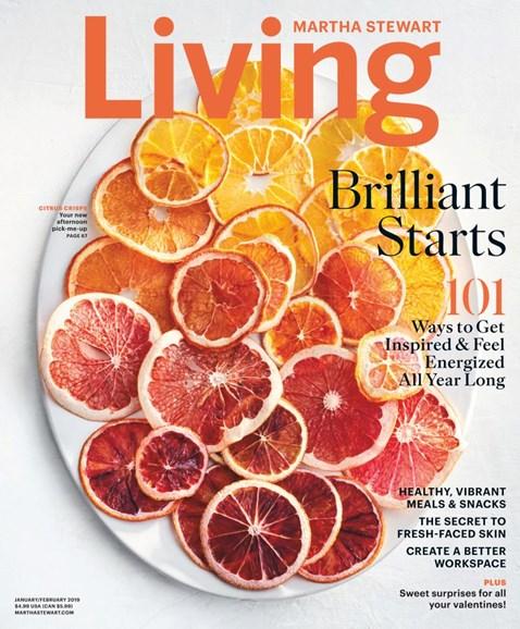 Martha Stewart Living Cover - 1/1/2019