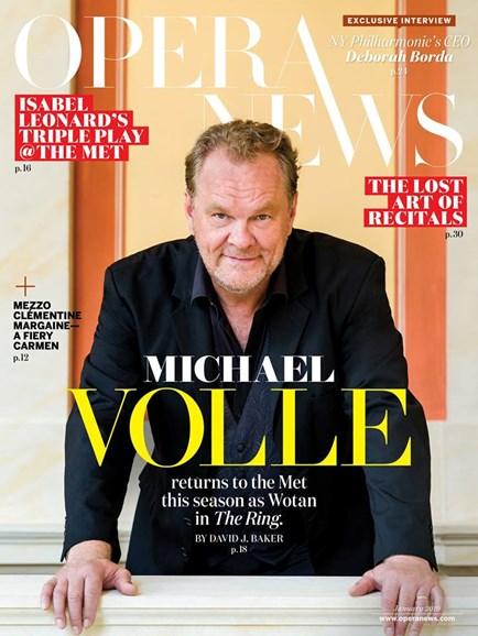 Opera News Cover - 1/1/2019