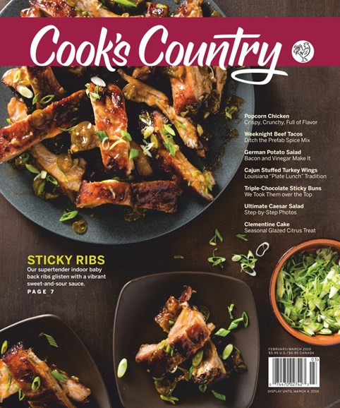 Cook's Country Cover - 2/1/2019