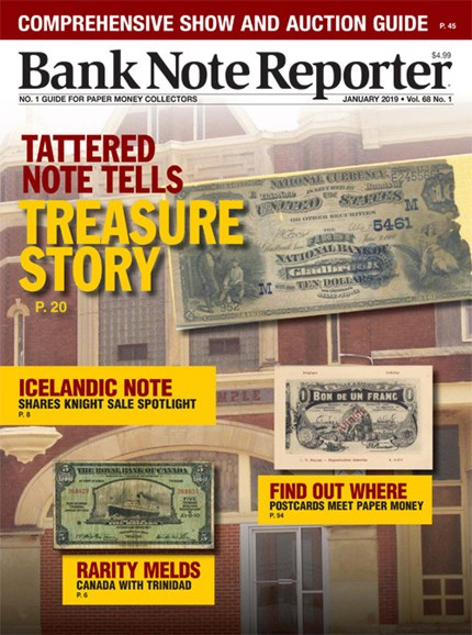 Bank Note Reporter Cover - 1/1/2019