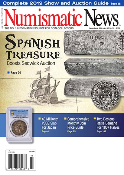 Numismatic News Cover - 12/4/2018