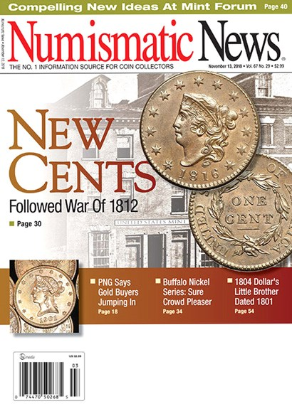 Numismatic News Cover - 11/13/2018