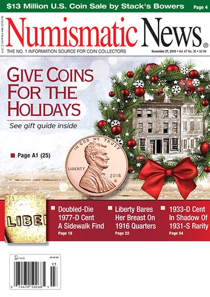 Numismatic News Cover - 11/27/2018