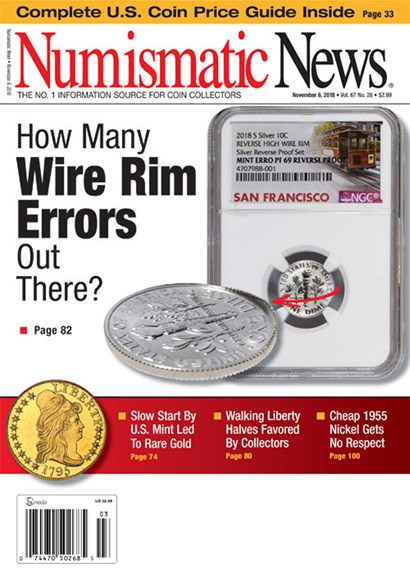 Numismatic News Cover - 11/6/2018