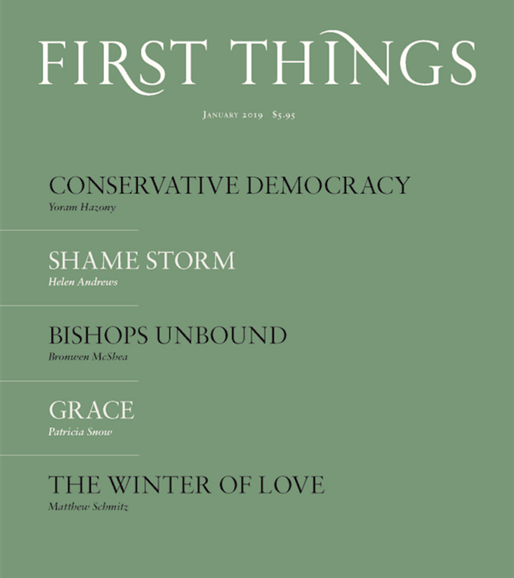 First Things Cover - 1/1/2019