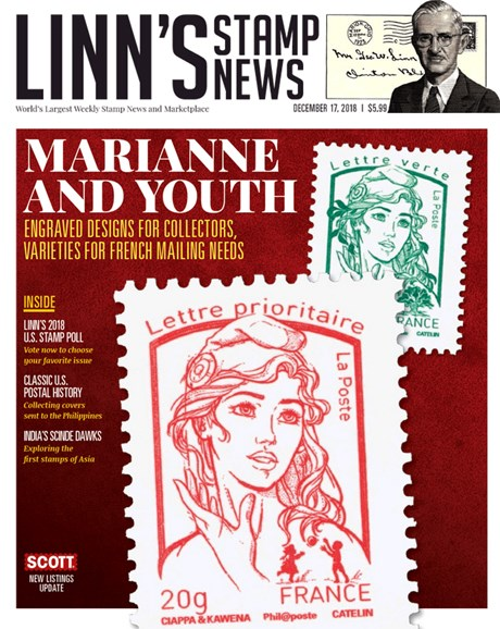 Linn's Stamp News Weekly Cover - 12/17/2018